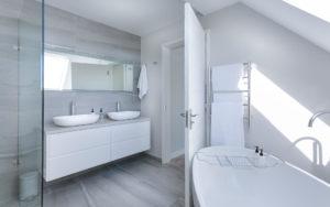 Modernes Minimalistisches Verputztes Badezimmer
